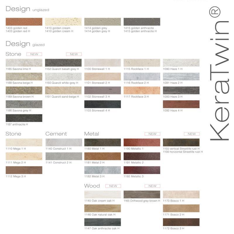 Ceramic Facade Systems - KLAY Tiles & Facades - CFS-Swatches-Keratwin2
