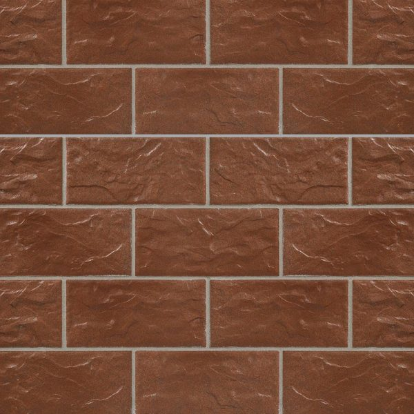 KLAY Tiles Facades - KLAY-Brickslips-KBS-SKB-2018-Rust-Brown