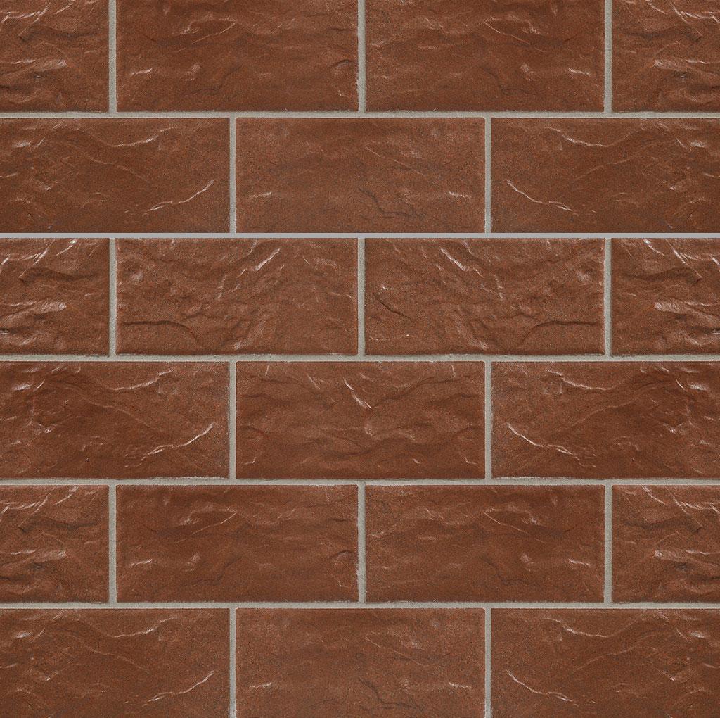 KLAY Tiles Facades - KLAY-Brickslips-KBS-SKB-2018-Rust-Brown